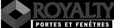 Logo noir et blanc de Groupe Royalty - Portes et Fenêtres